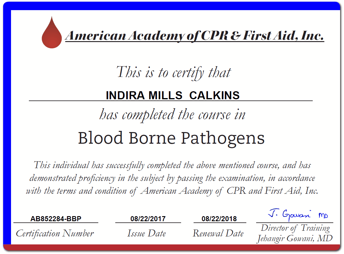 Bloodborne Pathogens Training Certification