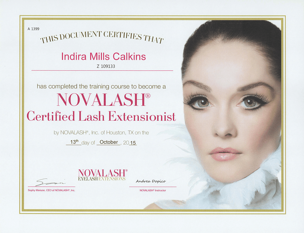 Novalash Certified Lash Extensionist Training Certification