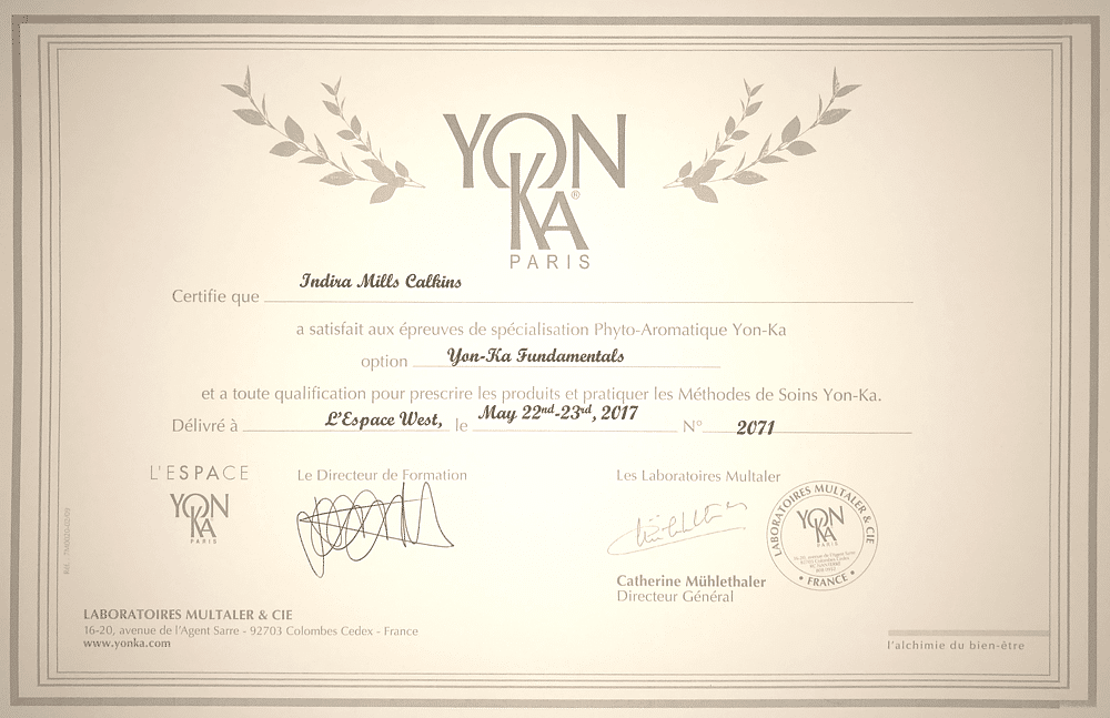 Yon-Ka Professional Skincare Training Certification