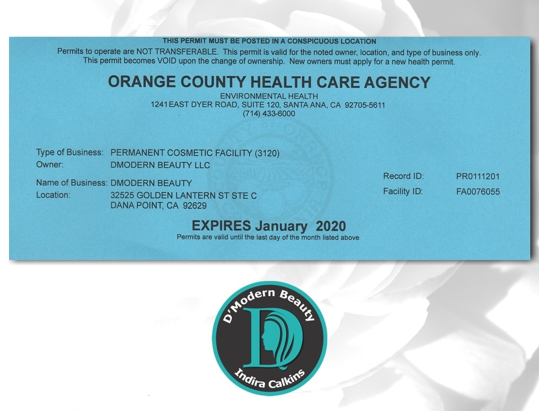 Orange County Health Care Agency Body Artist Registered 2019