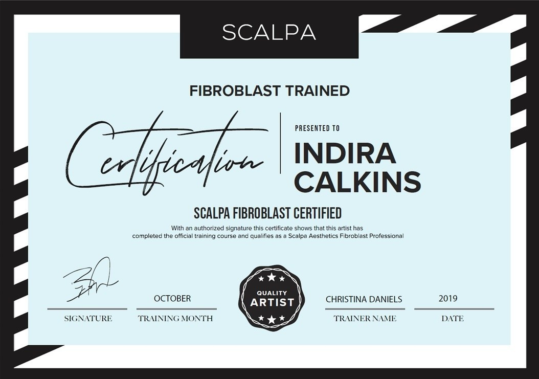 Plasma Fibroblast Treatment Training Certification