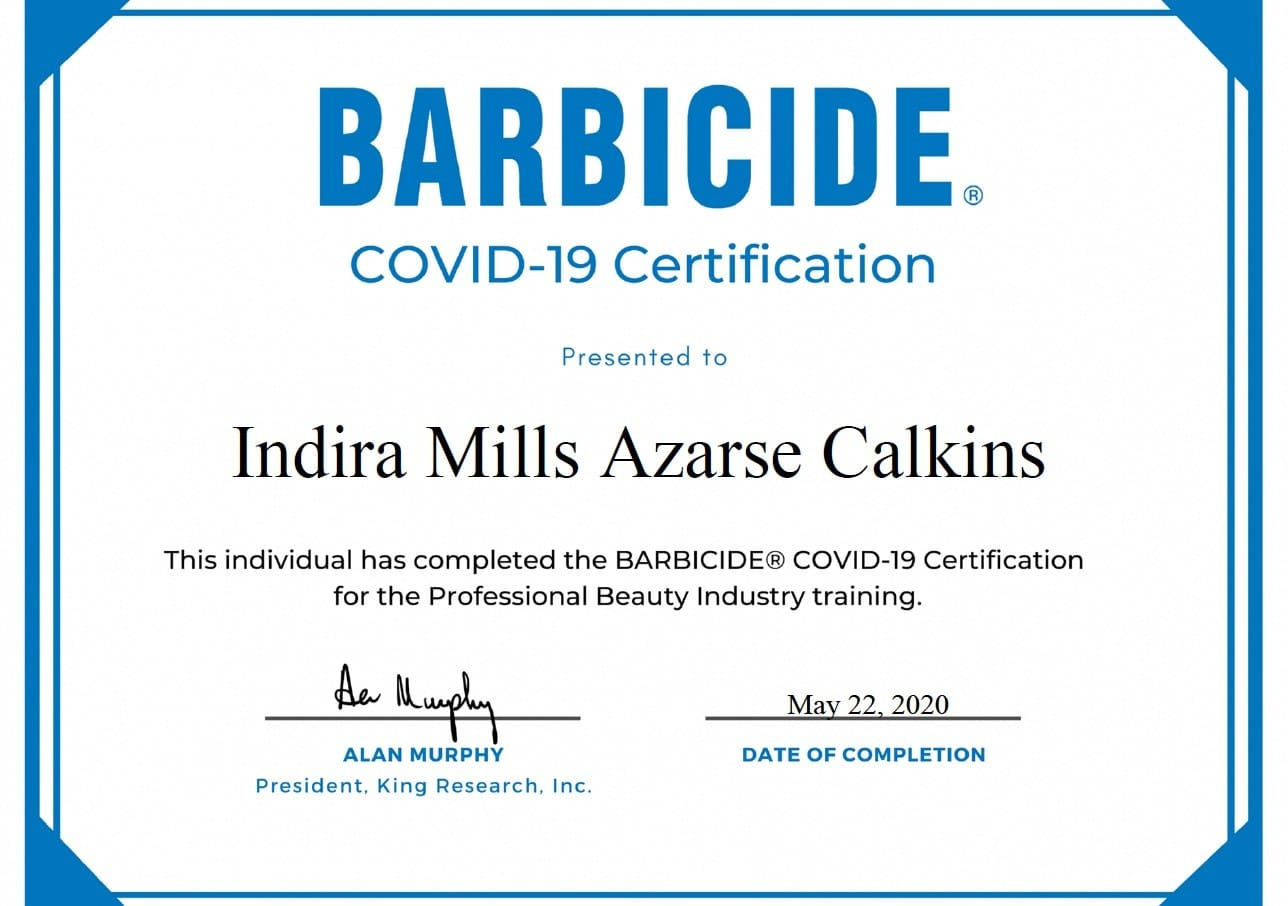 COVID-19 Barbicide Certification D Modern Beauty